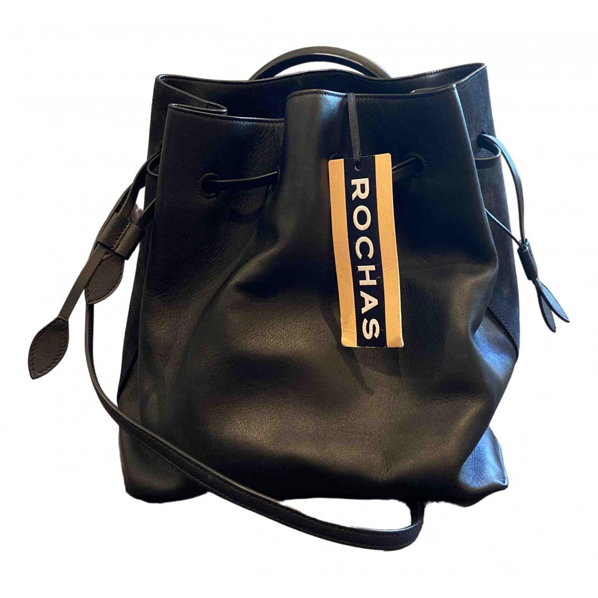 Rochas \N Handtasche in  Schwarz Leder