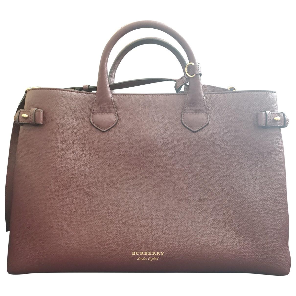 Burberry The Banner  Burgundy Leather handbag for Women \N