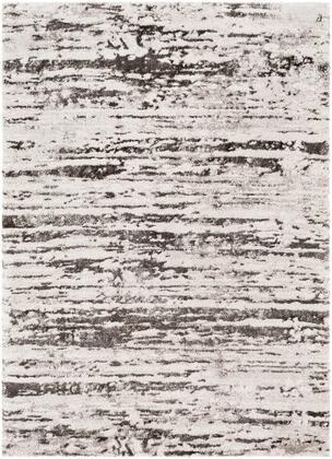 Venice VNE-2301 67 x 96 Rectangle Modern Rugs in Medium Gray  Charcoal  Light Gray