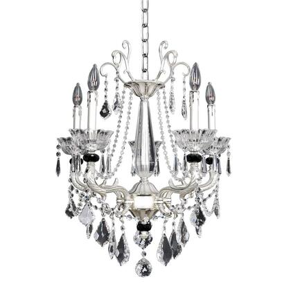 024454-017-FR001 Campra 6-Light Chandelier Traditional Style  120V in 2-Tone Silver