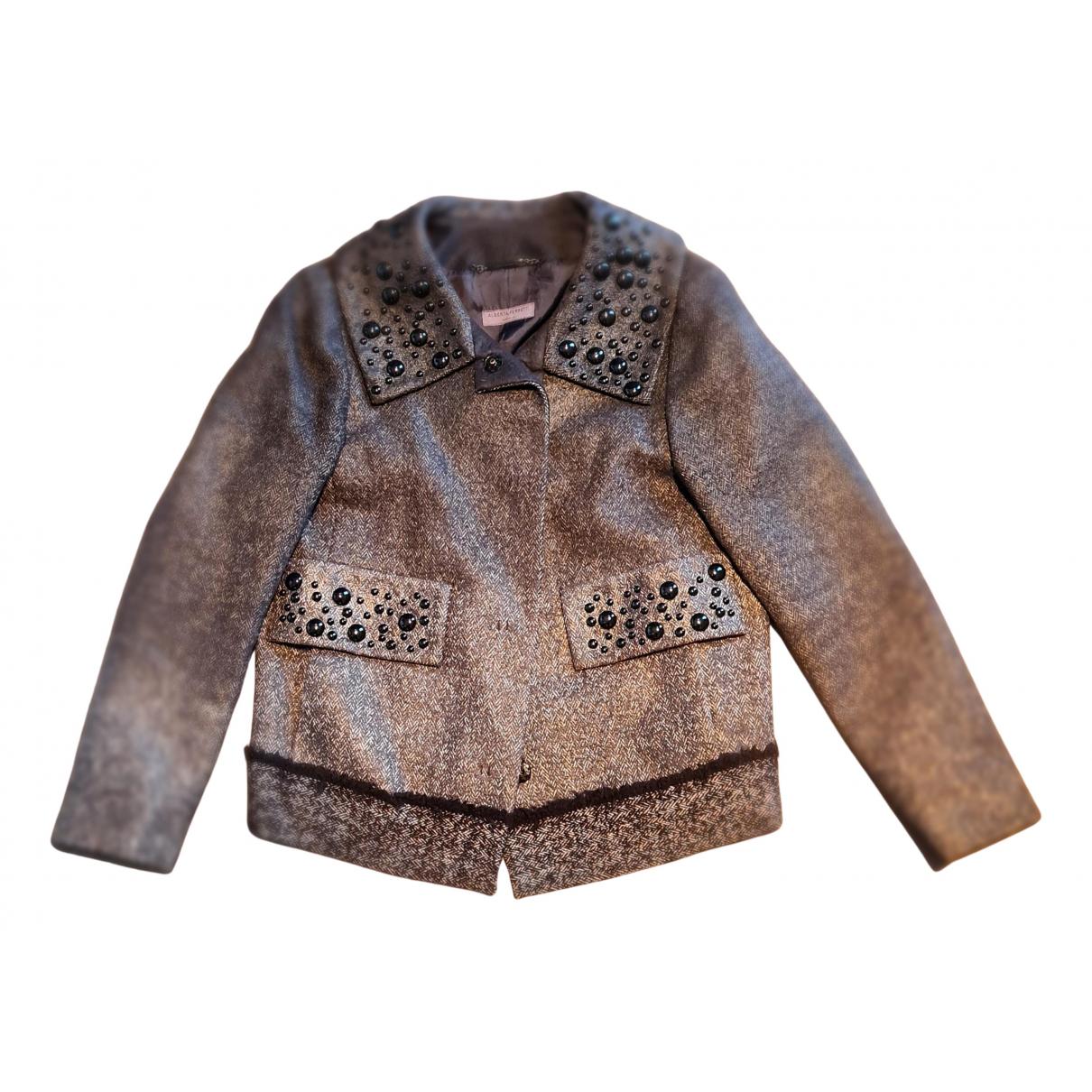 Alberta Ferretti - Manteau   pour femme en laine - gris