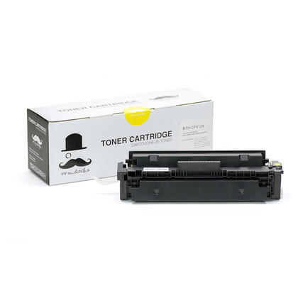 Compatible HP 410X CF412X Yellow Toner Cartridge High Yield - Moustache - 1/Pack