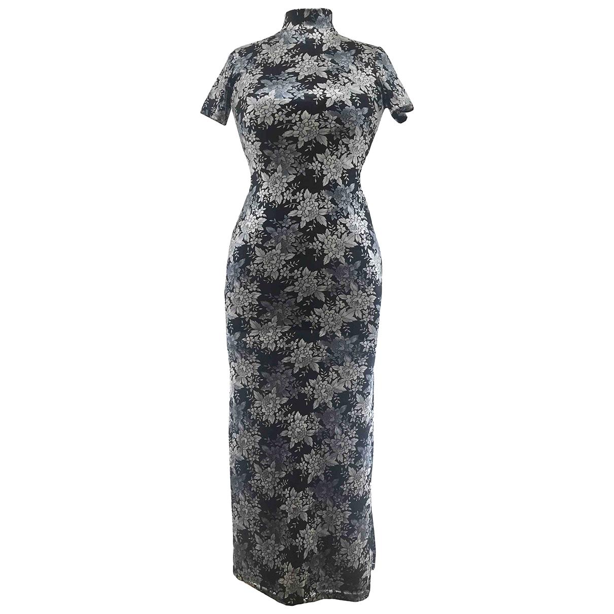 Non Signé / Unsigned Hippie Chic Multicolour dress for Women 40 FR