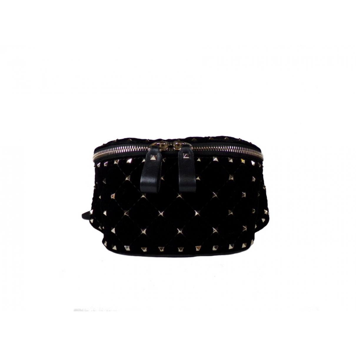 Valentino Garavani Rockstud spike Black Velvet handbag for Women N