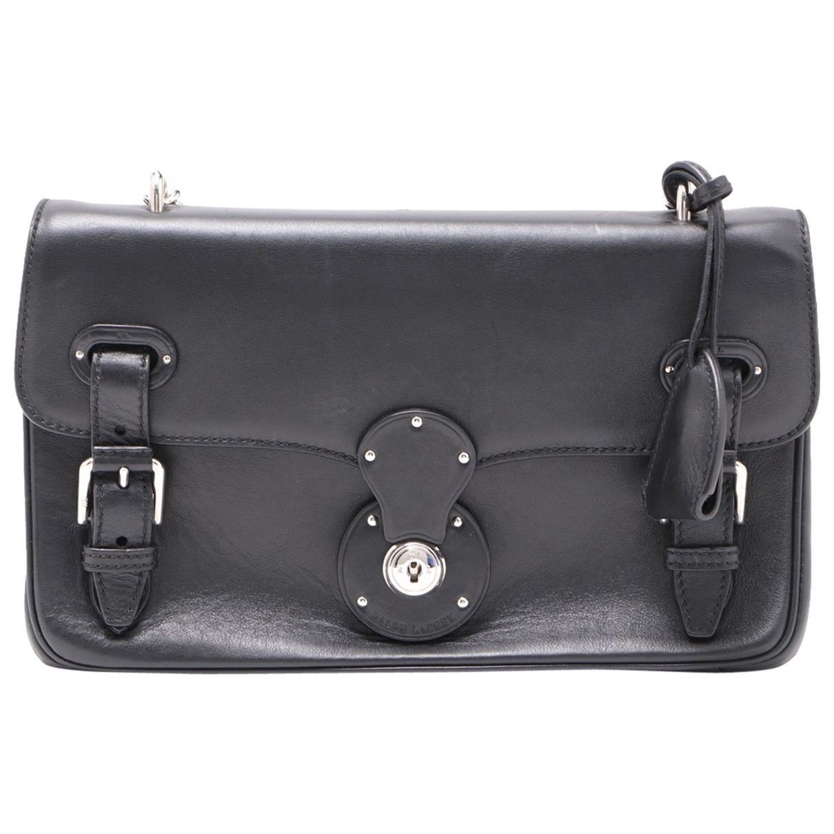 Non Signé / Unsigned N Black Leather handbag for Women N