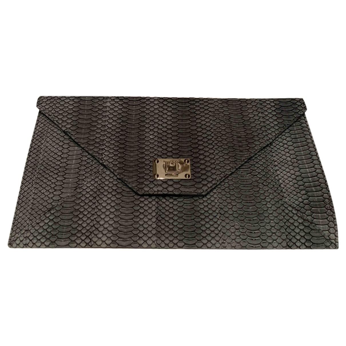 Jimmy Choo Rosetta Grey Leather Clutch bag for Women N