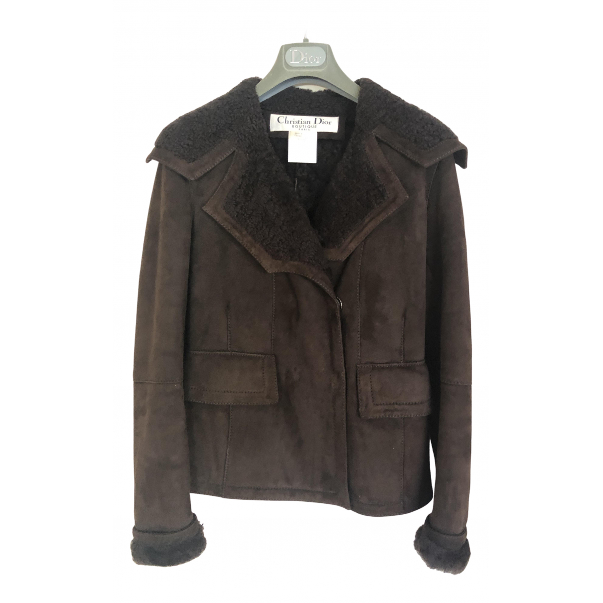 Dior N Brown Wool Leather jacket for Women 36 FR