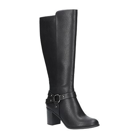 Easy Street Womens Franconia Plus Booties Block Heel, 6 Medium, Black
