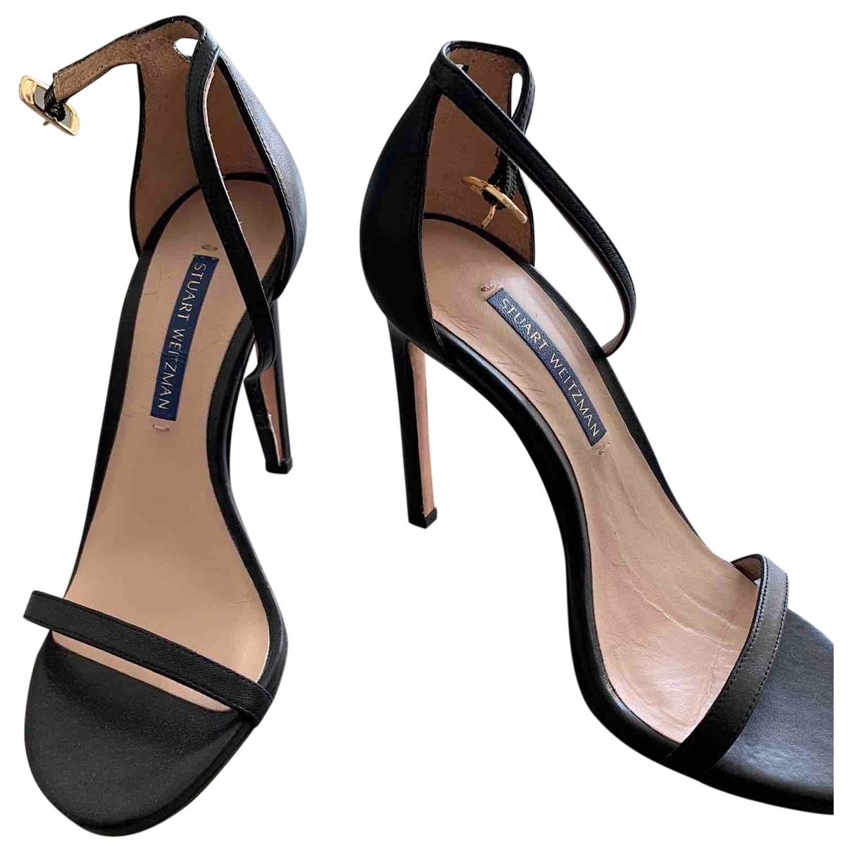 Stuart Weitzman \N Black Leather Sandals for Women 35 EU