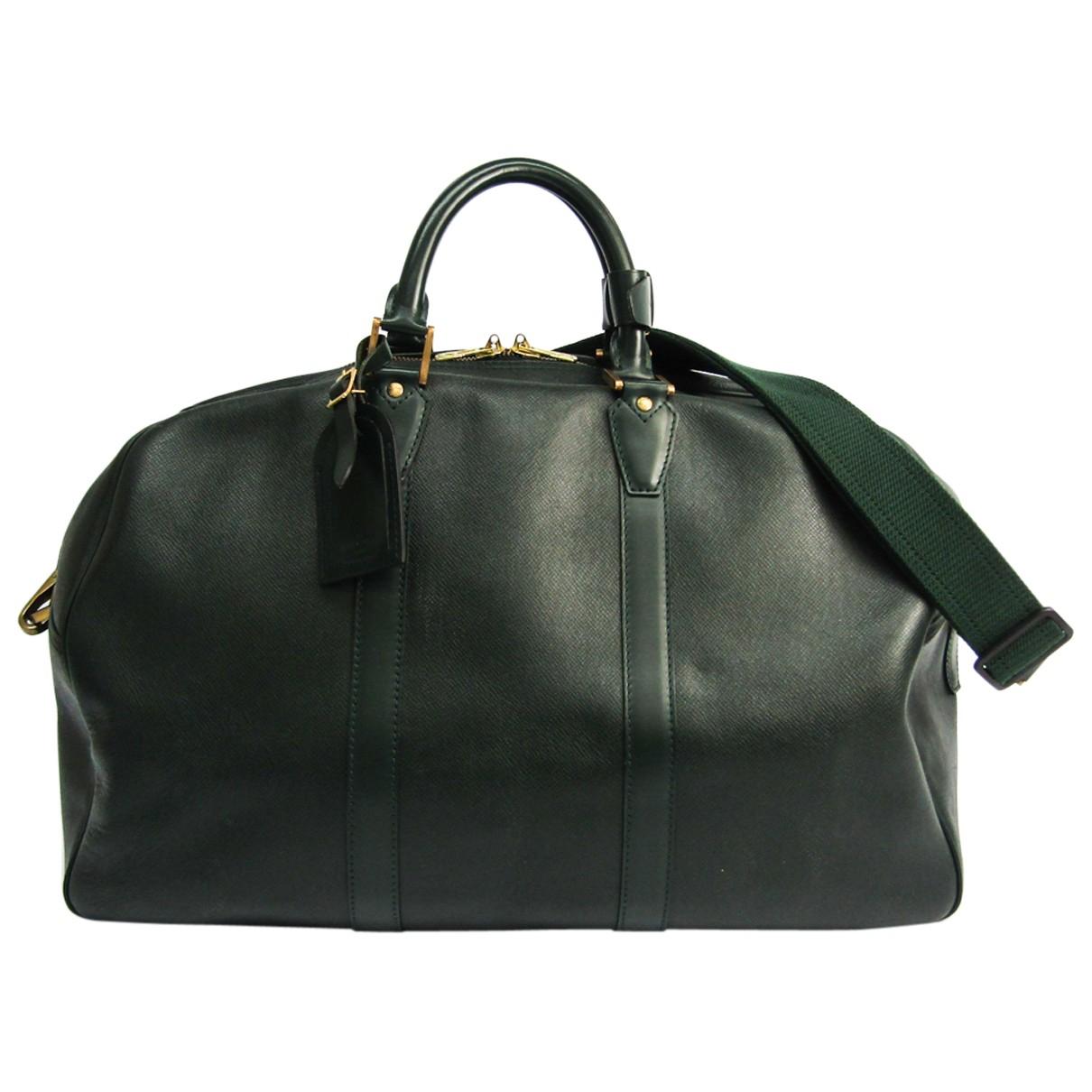 Louis Vuitton - Sac de voyage   pour femme en cuir - vert