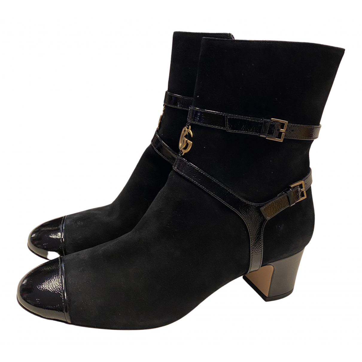 Gucci \N Black Suede Ankle boots for Women 39.5 EU