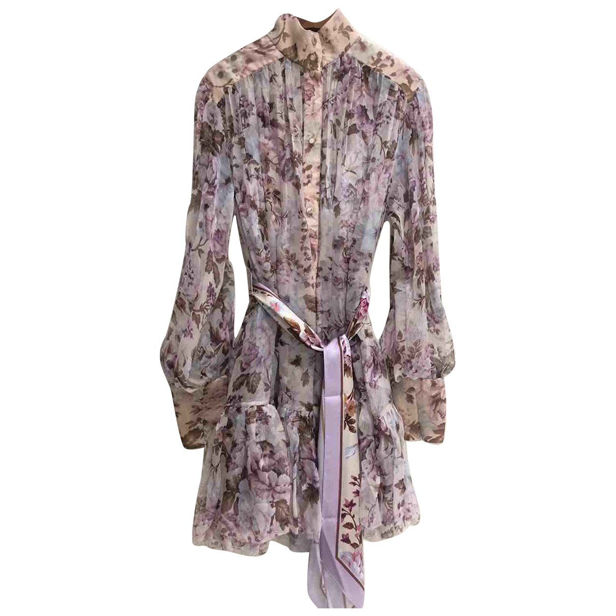 Zimmermann N Pink Silk dress for Women 1 0-5