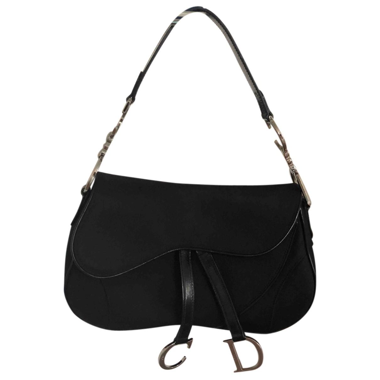 Dior - Sac a main Saddle pour femme en toile - noir