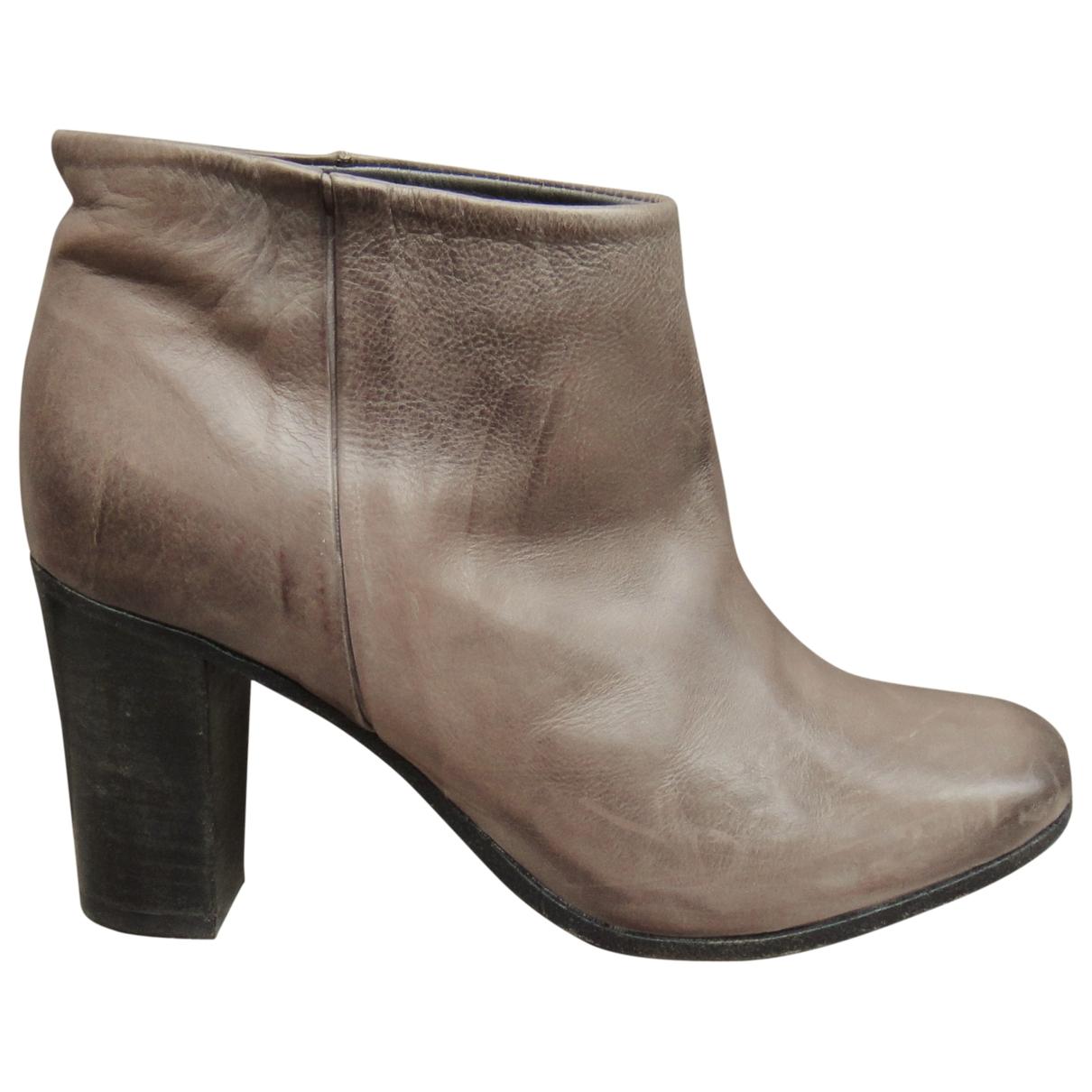 N.d.c. Made By Hand - Boots   pour femme en cuir - gris