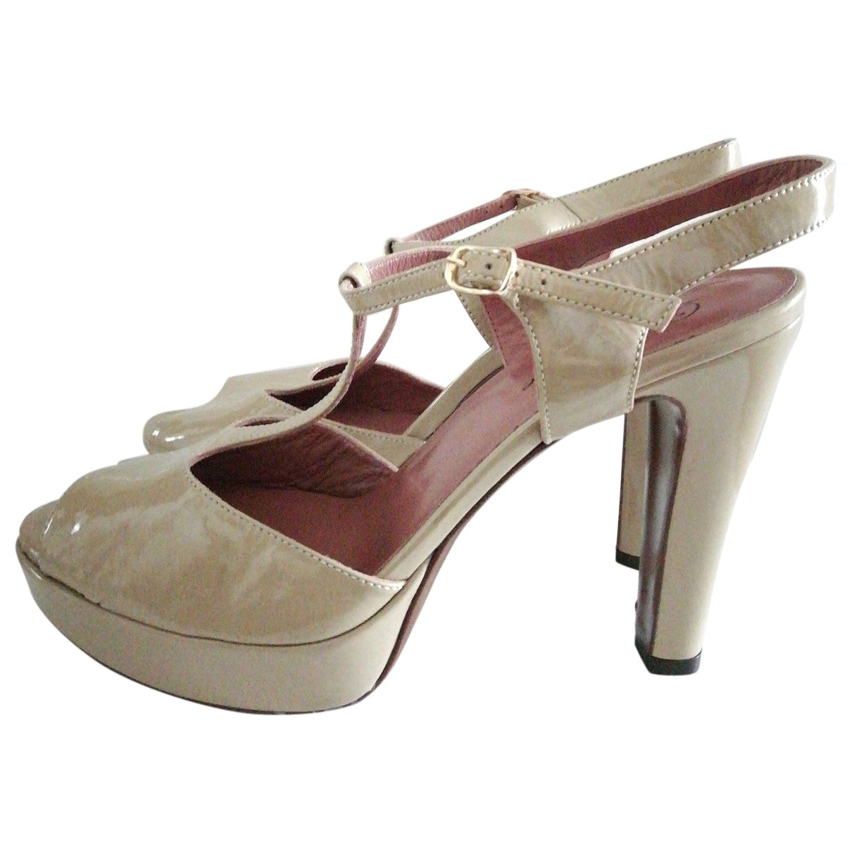 Non Signé / Unsigned \N Camel Leather Heels for Women 40 EU