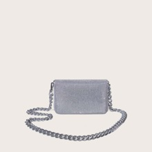 Zip Around Chain Crossbody Bag