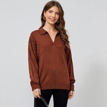 Einfarbiger Pullover