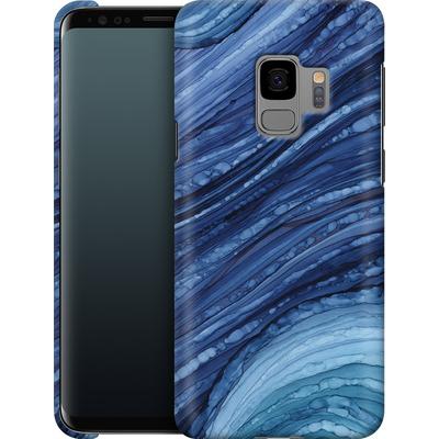 Samsung Galaxy S9 Smartphone Huelle - Blue Agate Crystal Slice von Becky Starsmore