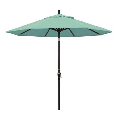GSPT908117-48020 9' Pacific Trail Series Patio Umbrella With Bronze Aluminum Pole Aluminum Ribs Push Button Tilt Crank Lift With Sunbrella 1A