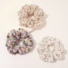 3 Stuecke Ditsy Muster Scrunchie