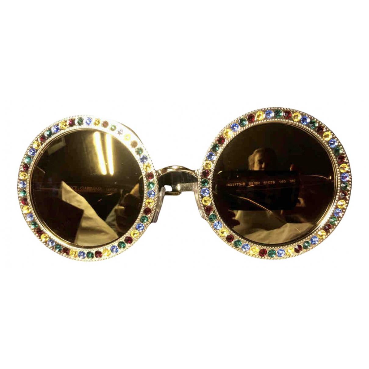 Dolce & Gabbana \N Sonnenbrillen in  Gold Metall