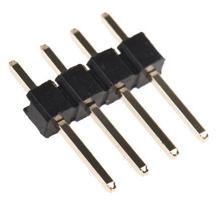 HARWIN , M20, 4 Way, 1 Row, Straight Pin Header (10)