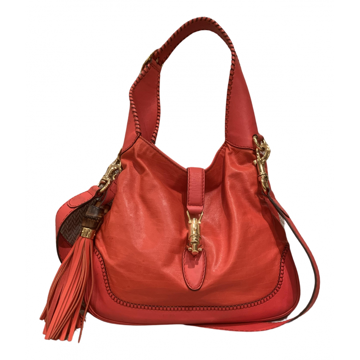 Gucci Jackie Vintage  Orange Leather handbag for Women N