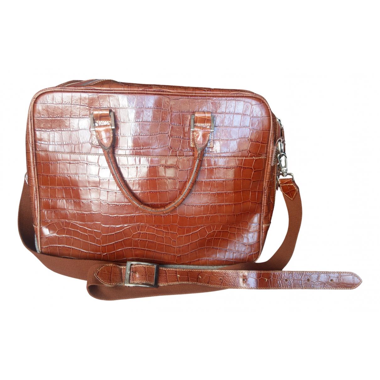 Aspinal Of London - Sac de voyage   pour femme en cuir - marron