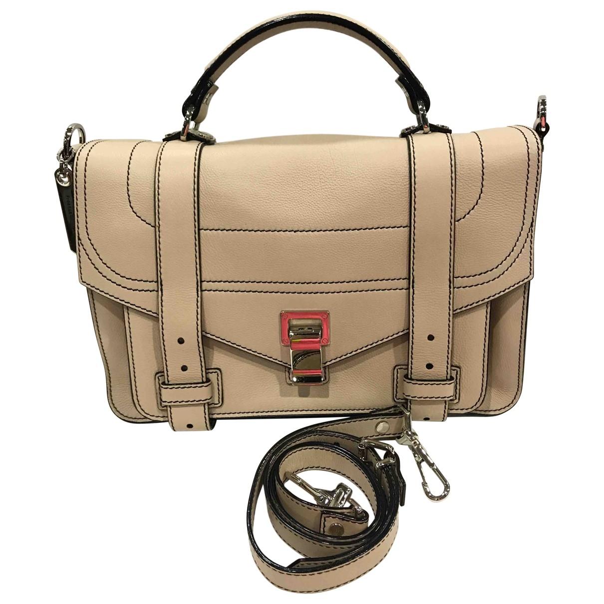 Proenza Schouler \N Handtasche in  Braun Leder