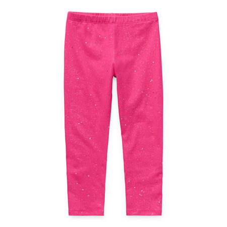 Okie Dokie Solid Toddler Girls Legging, 5t , Pink