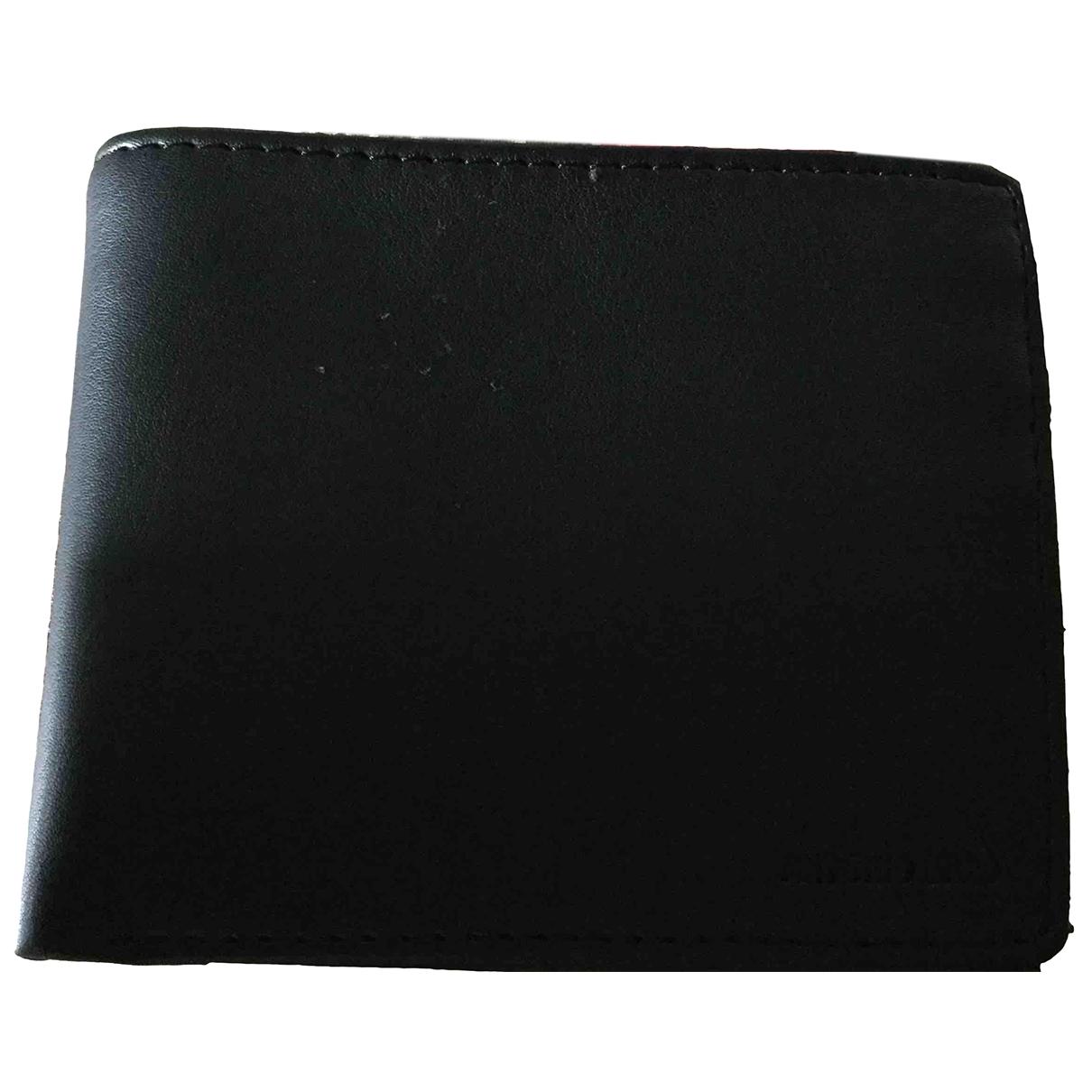 - Petite maroquinerie   pour homme en cuir - noir