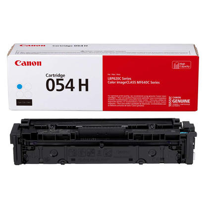 Canon 054H XL CRG 054C H 3027C001 Original Cyan Toner Cartridge High Yield