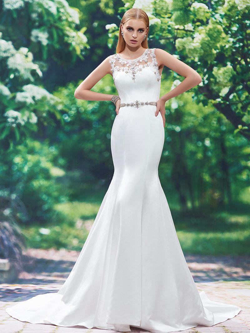 Ericdress Appliques Beaded Mermaid Wedding Dress