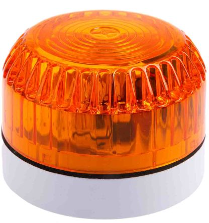 Fulleon Solex Amber Xenon Beacon, 9 → 60 V dc, Flashing, Surface Mount