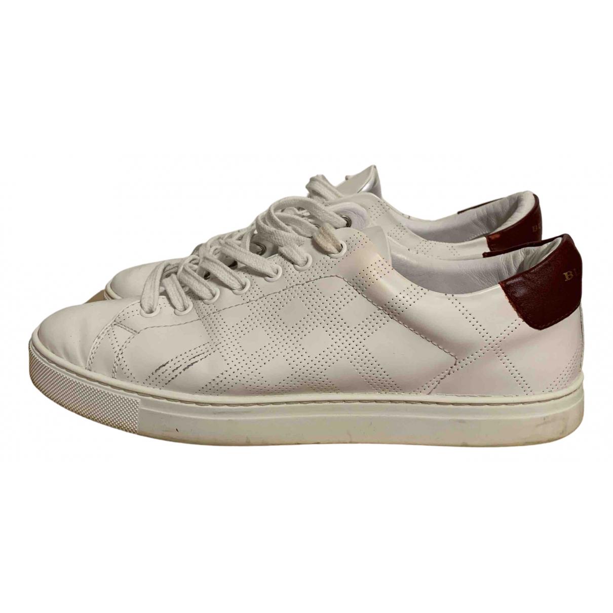 Burberry - Baskets   pour homme en cuir - blanc