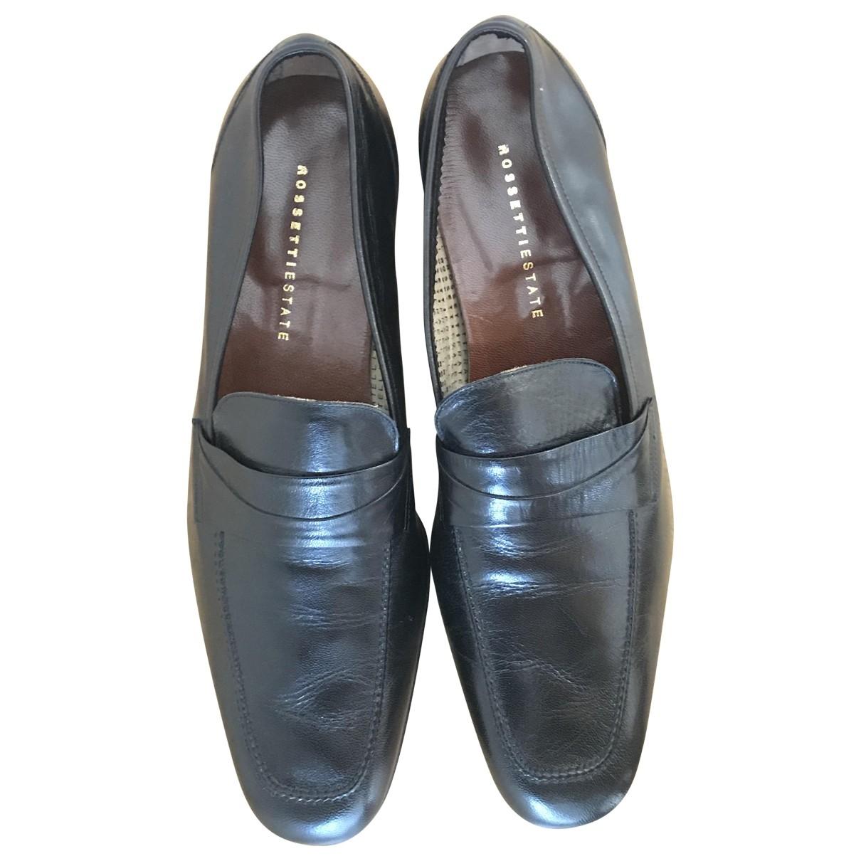 Fratelli Rossetti \N Black Leather Flats for Men 11.5 US