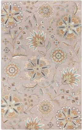 Athena Collection ATH5127-69 Rectangle 6' x 9' Area Rug with Hand Tufting and Wool Material in Blue and Brown