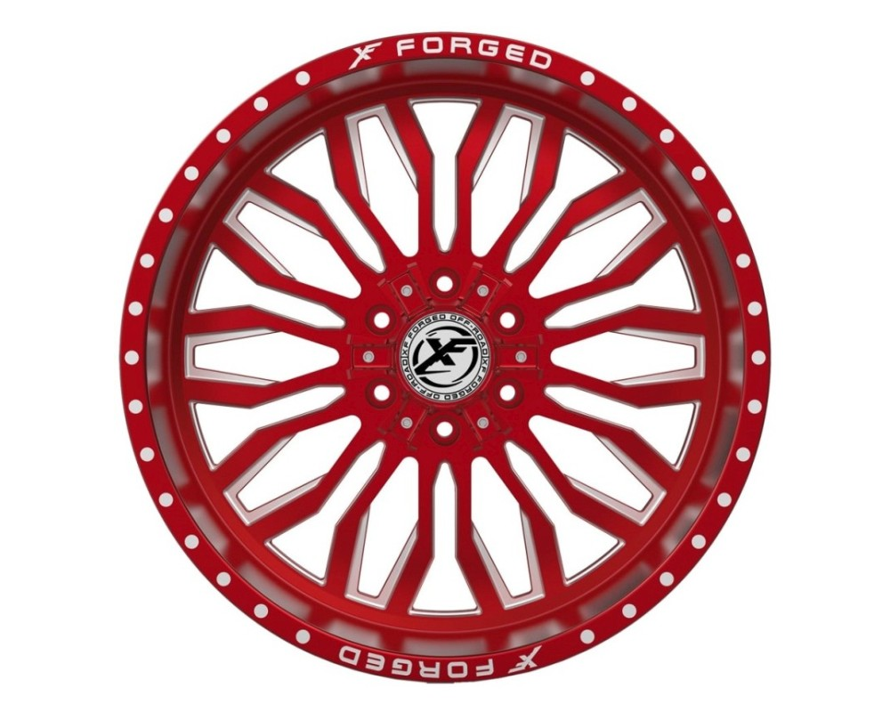 XF Off-Road XFX-305 Wheel 20x10 6x135|6x139.7 -12mm Red Milled
