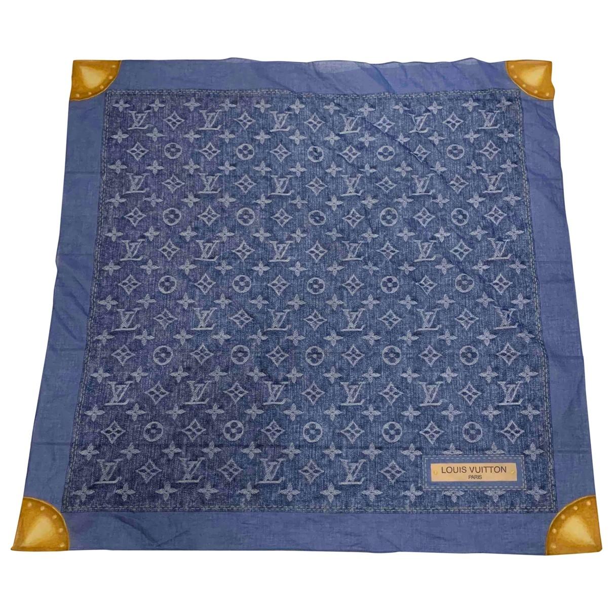 Carre en Algodon Azul Louis Vuitton