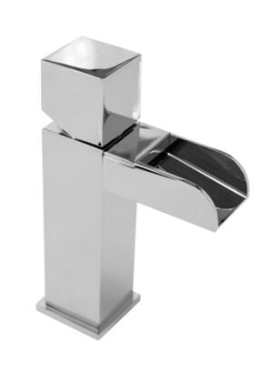222C.211.100 Chrome Single Square Handle Design Lavatory Faucet  Cascading Waterfall