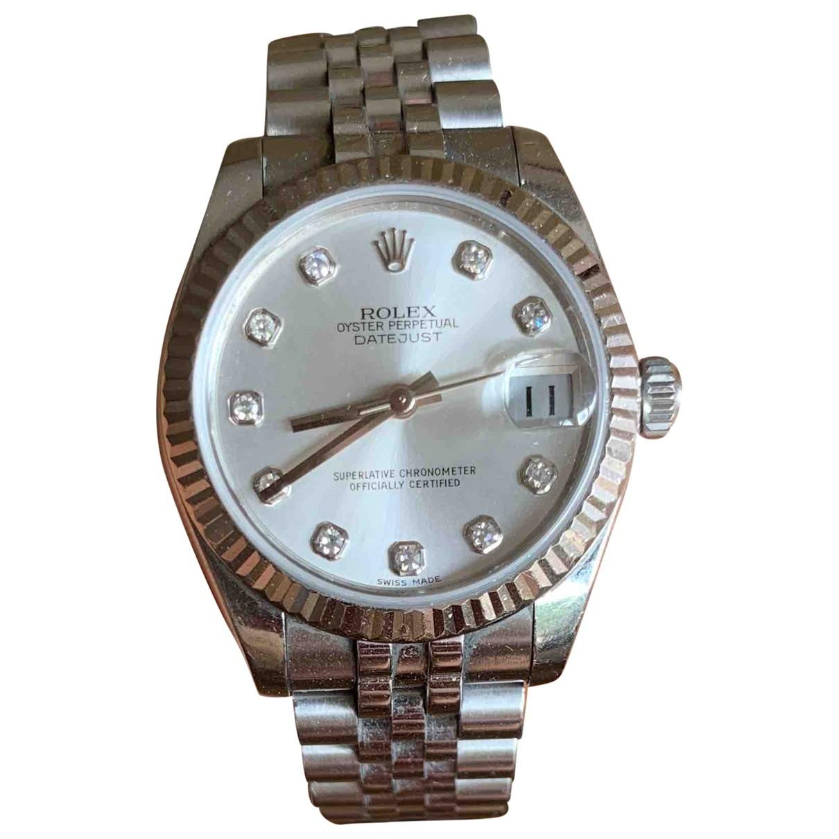 Rolex - Montre Datejust 36mm pour femme en or et acier - argente