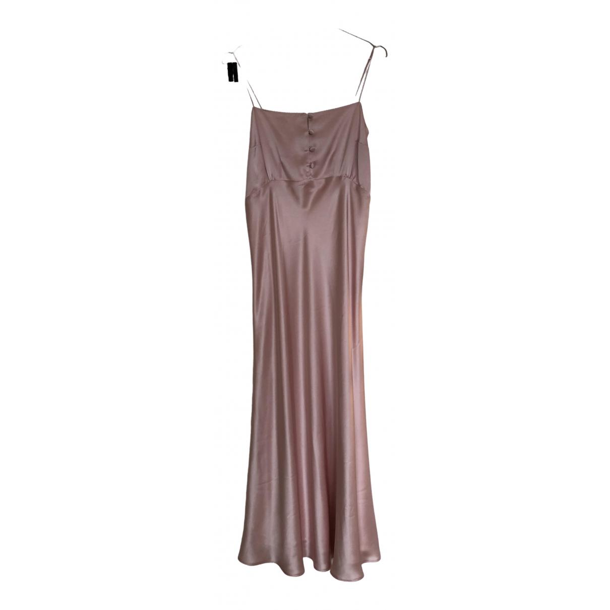 Bernadette - Robe   pour femme en soie - rose