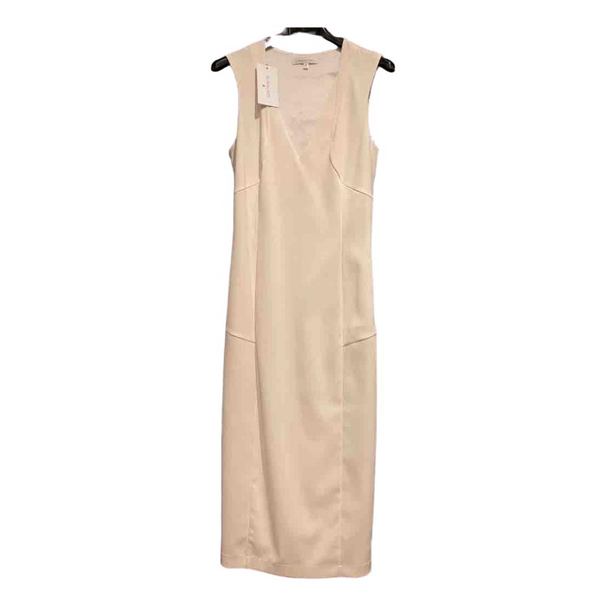 Patrizia Pepe \N Kleid in  Weiss Polyester