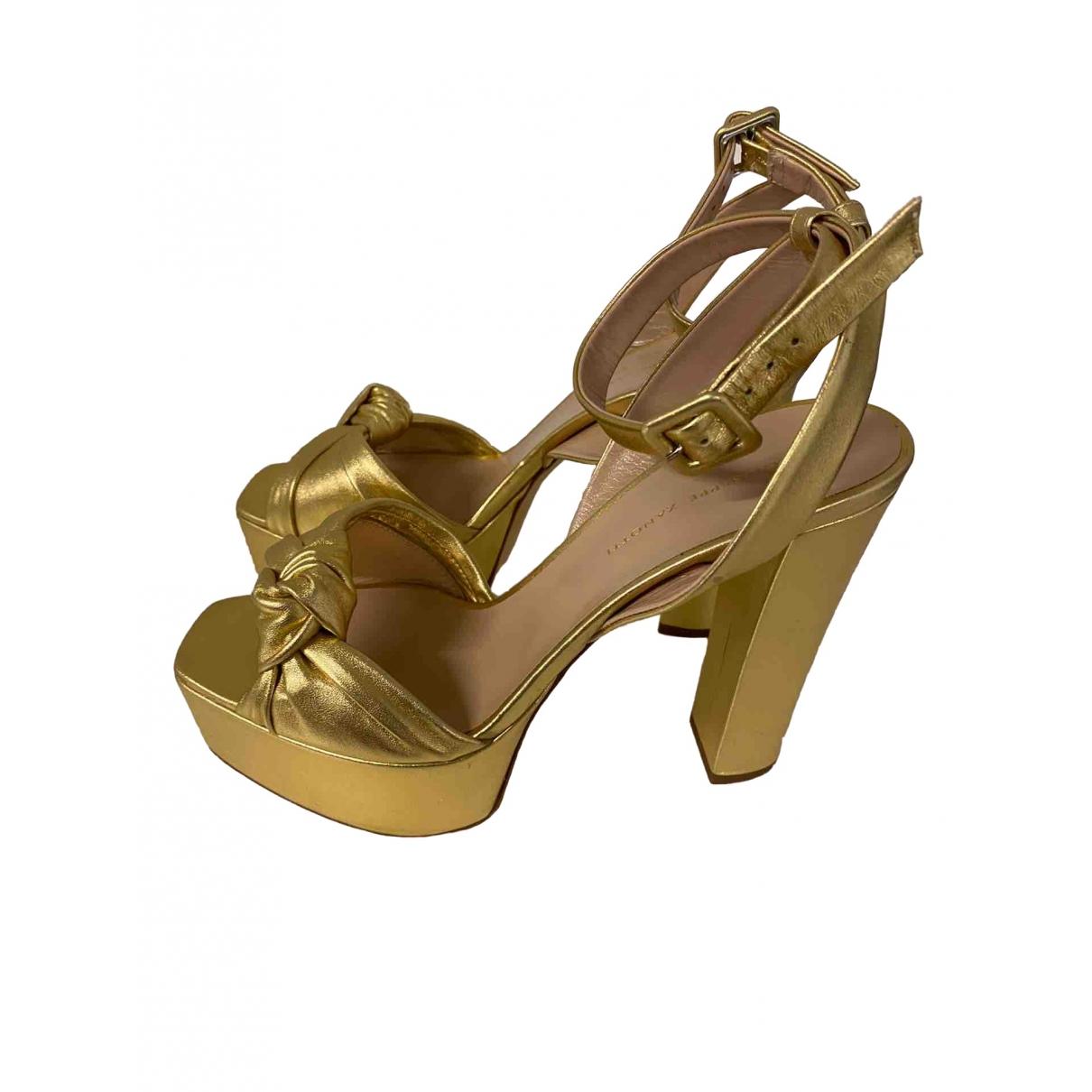 Giuseppe Zanotti \N Gold Leather Sandals for Women 41 EU