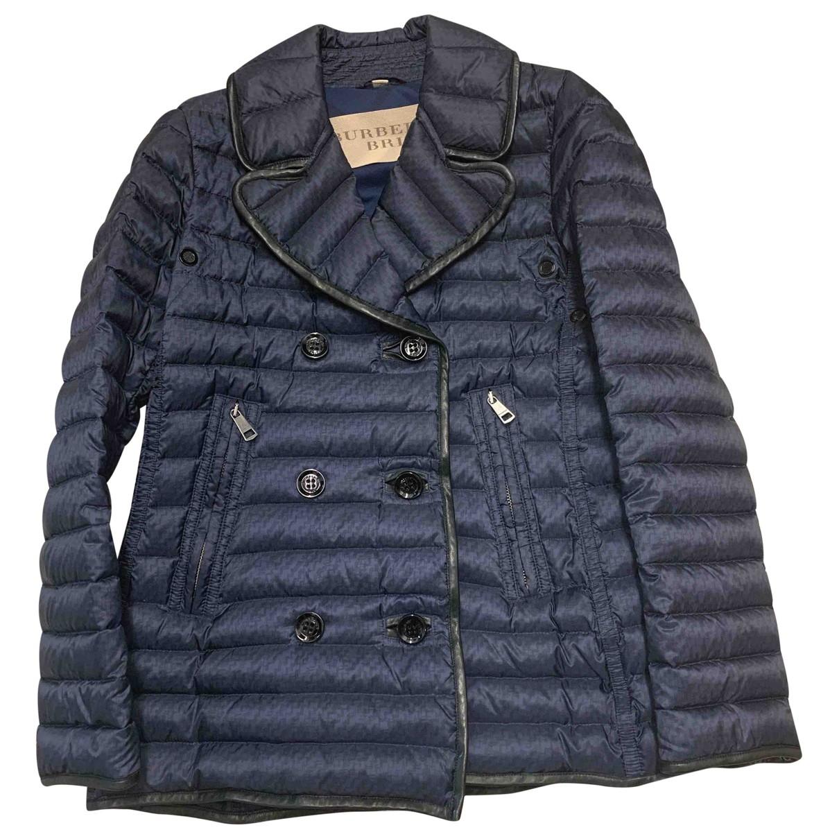 Burberry - Blouson   pour femme - bleu
