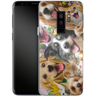 Samsung Galaxy S9 Plus Silikon Handyhuelle - Selfie Backyard Pals von Howard Robinson