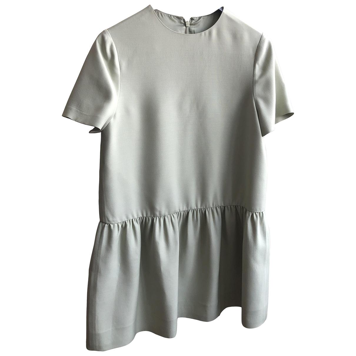 Valentino Garavani \N Green Wool dress for Women 42 IT