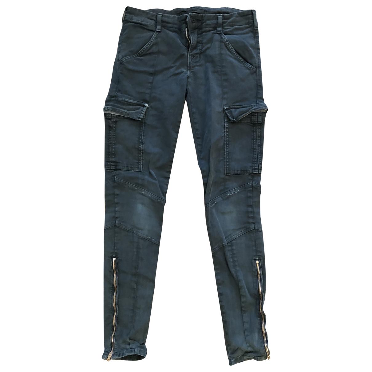 J Brand \N Khaki Cotton Trousers for Women 0 0-5
