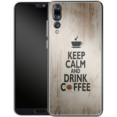 Huawei P20 Pro Silikon Handyhuelle - Drink Coffee von caseable Designs