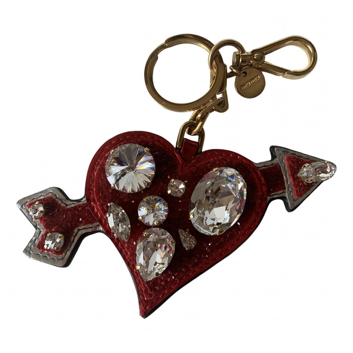Miu Miu - Bijoux de sac   pour femme en cuir - rouge